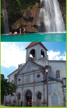 Kawasan Waterfalls & Moalboal church