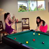 Enjoy a game of pool at Turtle Bay Dive Resort