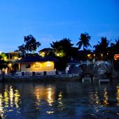 Turtle Bay shoreline at night