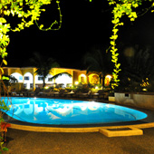 Try a moonlight swim in the lagoon pool
