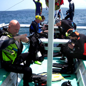 Preparing for the dive